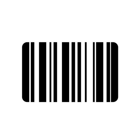 Vecteur d'icône de code à barres