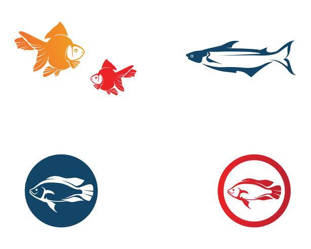 Modèle de logo de poisson. Symbole de vecteur créatif du club de pêche ou en ligne