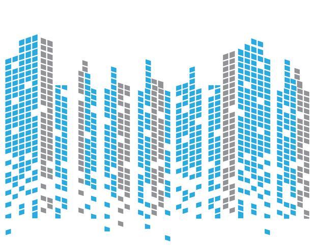 Toits de la ville moderne. silhouette de la ville. illustration vectorielle au design plat vecteur