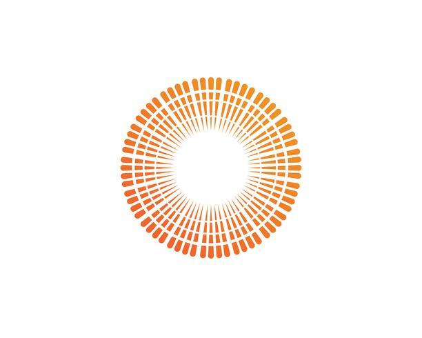 Logo et symboles du soleil star icon web vecteur