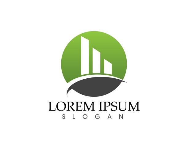 Logo de finance d'entreprise et symboles vectoriels concept vecteur