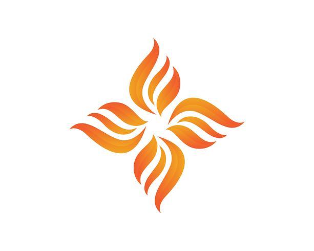 Modèle d'icônes de logo et symboles nature flamme feu .. vecteur