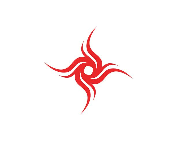 Modèle d'icônes de logo et symboles de feu flamme vectoriel nature