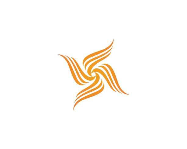 Modèle d'icônes logo et symboles de feu flamme nature vecteur