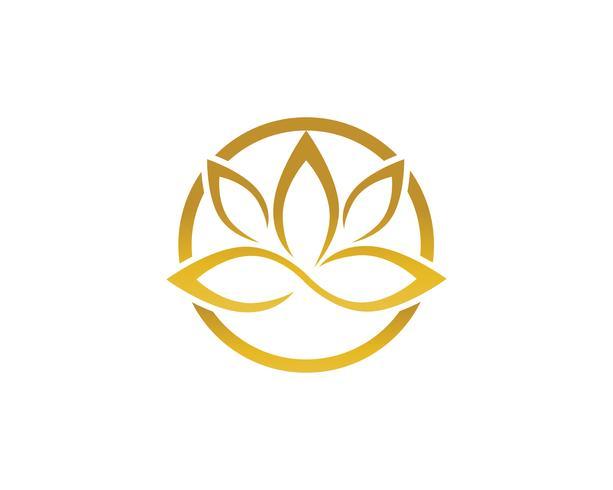 Signe de fleur de lotus pour bien-être, spa et yoga. Vecteur