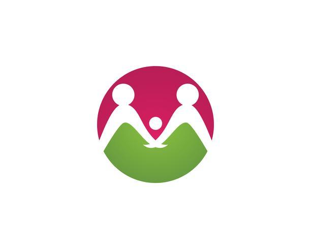 Adoption et soins communautaires Logo template vecteur