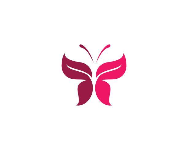 Papillon conceptuel simple, coloré vecteur