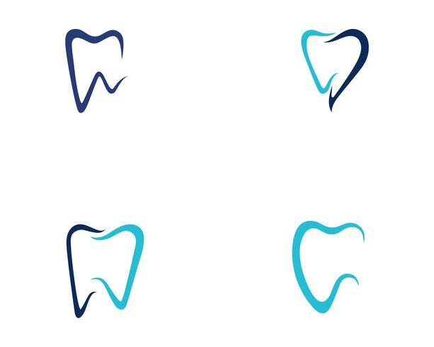 Logo dentaire modèle illustration vectorielle vecteur