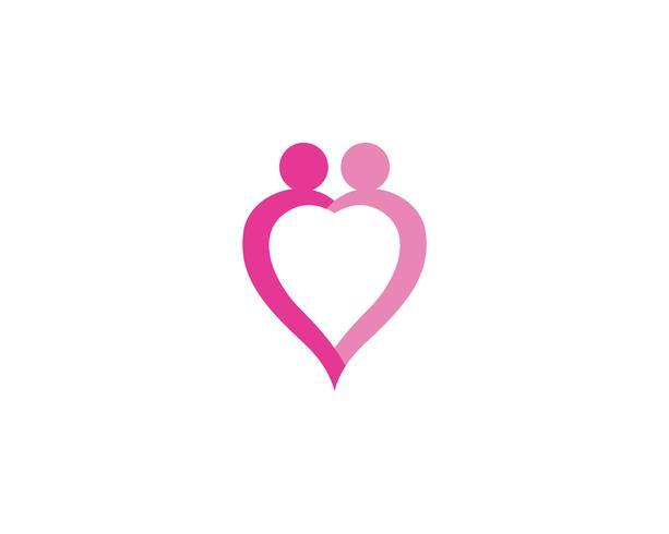 modèle de logo et symboles de l'amour familial vecteur