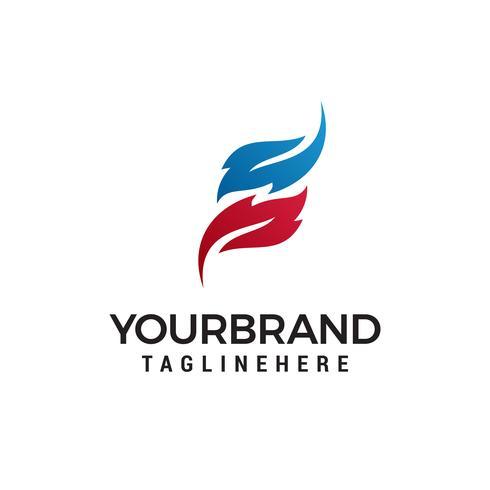 Modèle de lettre S logo design concept vecteur