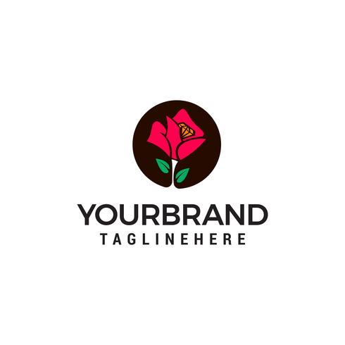 Modèle de logo fleur design concept vecteur