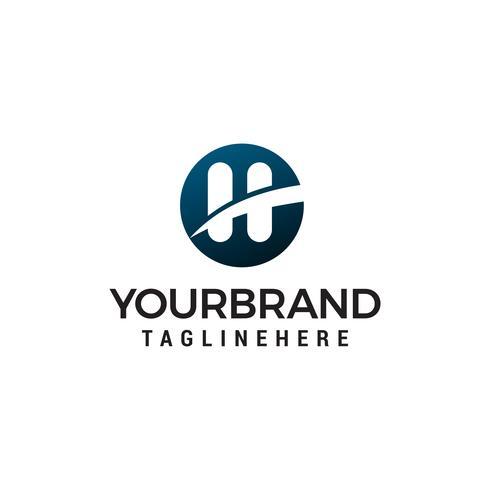 lettre h logo design concept template vecteur
