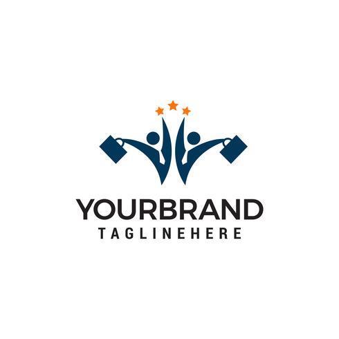 business deux personnes star logo design concept template vecteur