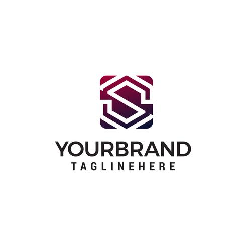 lettre S logo design concept template vecteur