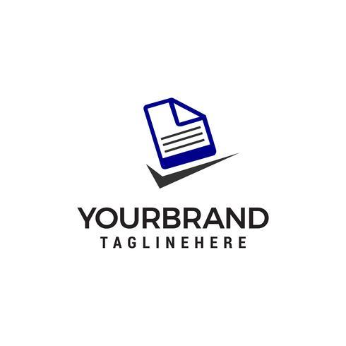 fichier document coche logo design concept template vecteur