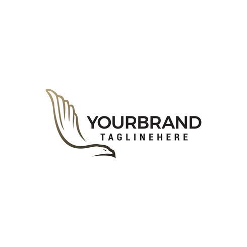colombe ailes logo design concept template vecteur