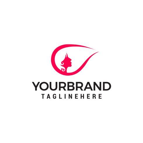 logo de style de cheveux femme, modèle de conceptions de logo de salon de beauté vecteur