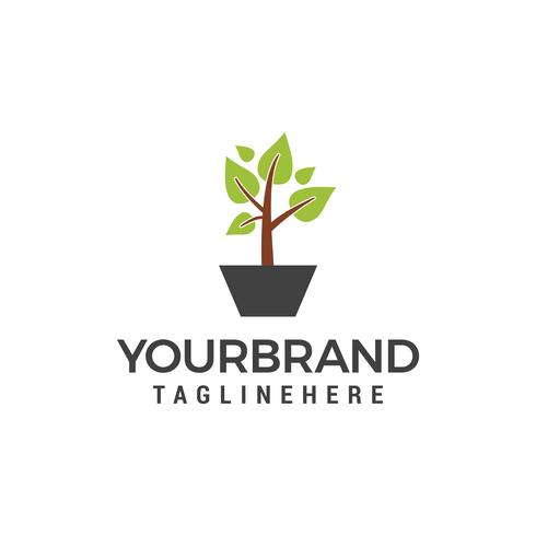 plante verte Logo Template vector icon design