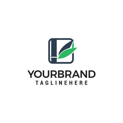 feuille de bambou logo design concept template vecteur