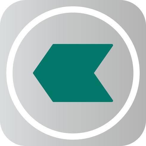 Icône de flèche gauche LeftWard vecteur