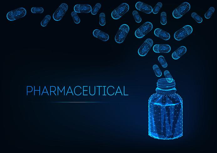 Concept pharmaceutique futuriste vecteur