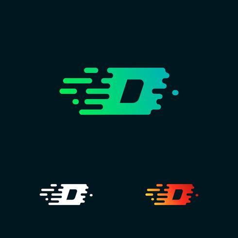 lettre D moderne vitesse formes logo design vecteur