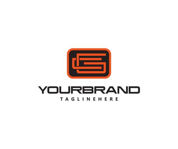 Conception du modèle de lettre initiale CG Logo vecteur