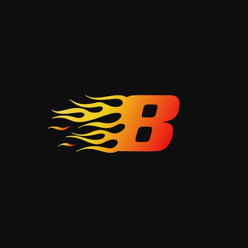 Numéro 8 Modèle de conception de logo de flamme brûlante vecteur