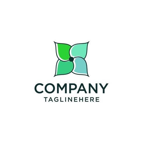 Création de vecteur icône abstrait fleur élégante logo. Création universelle