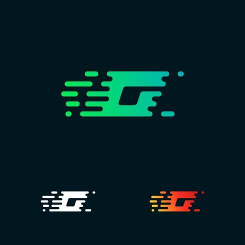 lettre G moderne vitesse formes logo design vecteur