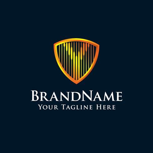 lettre initiale Y logo avec la couleur d'or vecteur