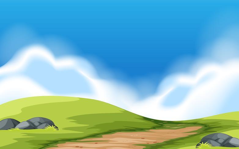Un paysage de porte du parc vecteur