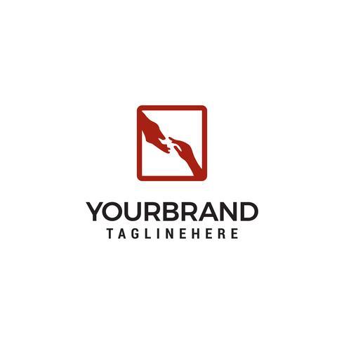Modèle de conception de logo d'aide à la main vecteur