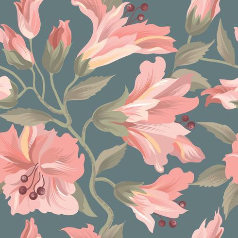 Floral pattern sans soudure. Fond de fleurs. S'épanouir le papier peint avec des fleurs. vecteur
