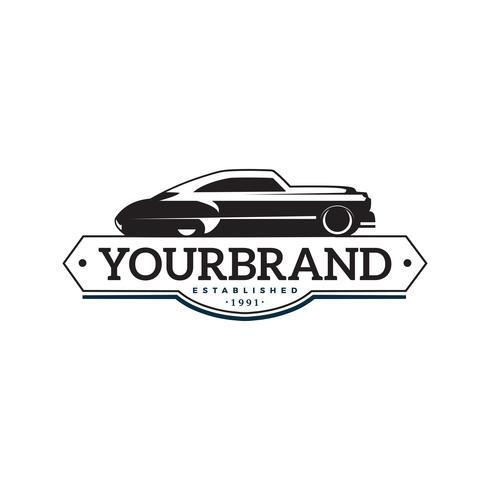 modèle de logo illustration voiture classique vecteur