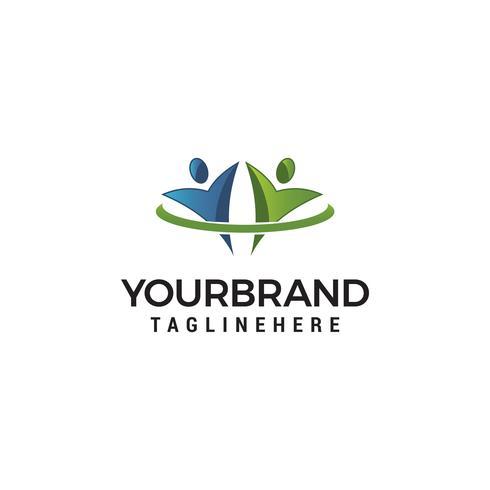 logo communauté icône élément modèle design logos vecteur
