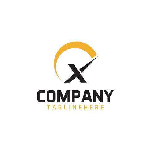 Lettre Tachymètre Logo vecteur
