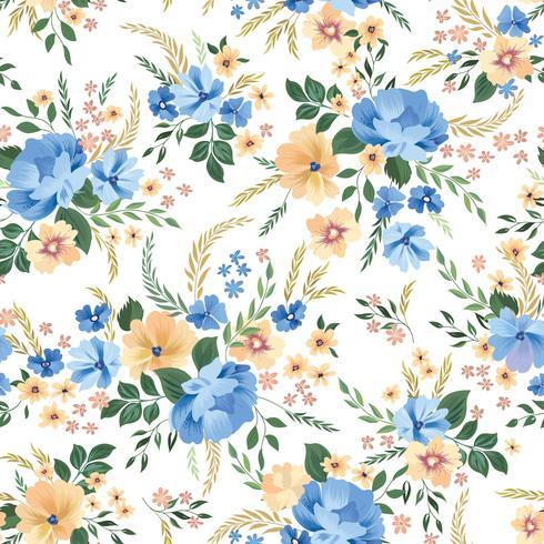 Floral pattern sans soudure. Fond de fleurs. Fleurs de jardin ornementales vecteur