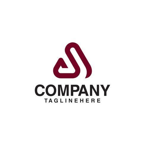 lignes élégantes lettre Un logo. vecteur