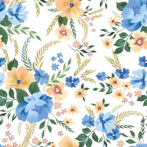 Floral pattern sans soudure. Fond de fleurs. Mur de jardin s'épanouir vecteur