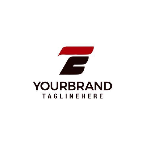 Éléments du modèle de conception lettre E logo icône vecteur