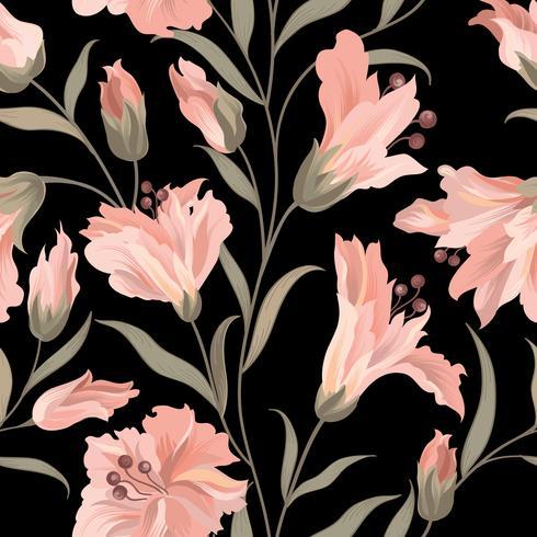 Modèle sans couture de fleur. Fond de jardin floral vecteur