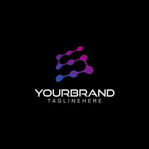 Lettre numérique S technologie icône logo élément de conception vecteur