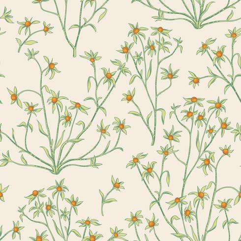 Floral pattern sans soudure. Fond de fleurs. Flourish papier peint avec des baies et des fleurs. vecteur
