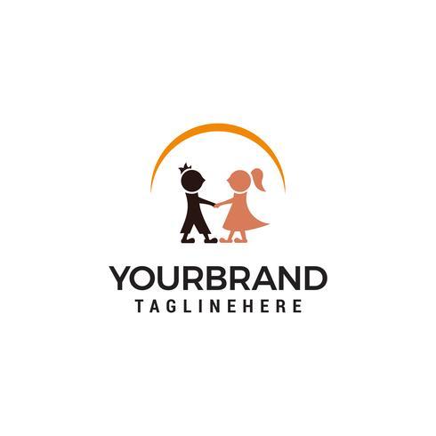 Couple mariage modèle de conception de logo vecteur