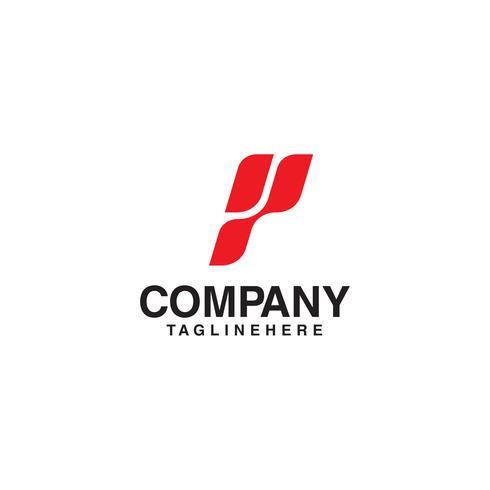 vecteur de lettre p logo