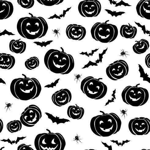 Modèle sans couture Happy Halloween. Fond fête de vacances avec vecteur