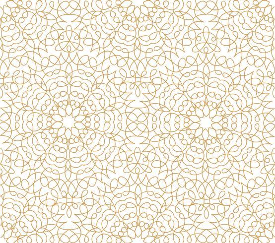 Motif de tuiles orientales ligne florale abstraite. Ornement arabe vecteur