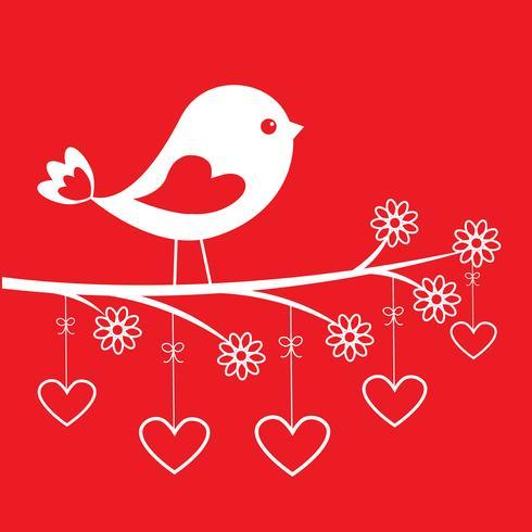 Oiseau mignon - carte élégante pour la Saint-Valentin vecteur