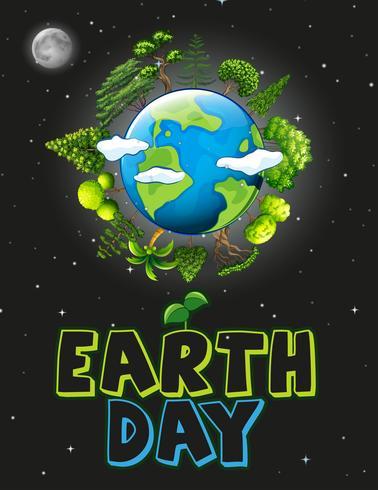 Une icône du jour de la terre vecteur